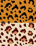 Leopard pattern. Seamless leopard pattern.  Repeating animal background Royalty Free Stock Images