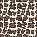 Leopard pattern. Seamless vector background. For design Royalty Free Stock Images