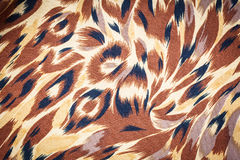 Leopard pattern. Leopard skin pattern on fabric for texture Royalty Free Stock Photos