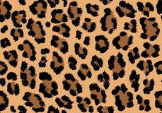 Leopard pattern texture repeating seamless orange black. Vector background. Repeat