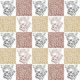 Leopard patterns for textiles and wallpaper Stock Photo