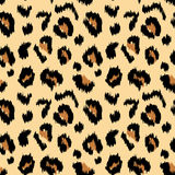 Leopard print. Abstract vector seamless pattern texture royalty free illustration