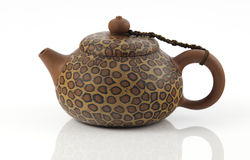 Leopard print Chinese teapot Royalty Free Stock Photography