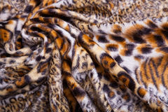 Leopard Print Fabric. Close up of Leopard Fur background stock photos