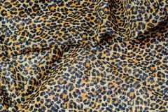 Leopard print, fabric pattern. Background texture, wild animal Pattern royalty free stock image