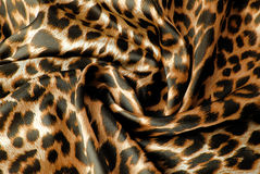 Leopard print fabric texture royalty free stock photography