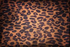 Leopard print vintage banner. Leopard print fabric vintage texture banner royalty free stock photography