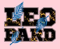 Leopard print stock illustration