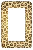Leopard print frame Royalty Free Stock Photography