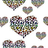 Leopard print pattern. Repeating background Stock Images
