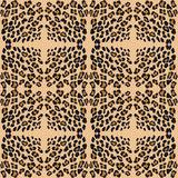 Leopard print pattern skin. Repeat animal pattern vector illustration