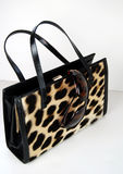 Leopard Print Purse and Sunglasses Stock Photo