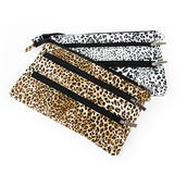 Leopard print purses Royalty Free Stock Photography