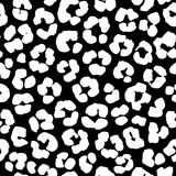 Leopard print seamless background pattern. Black and white. Vector illustration Leopard print seamless background pattern. Black and white Stock Images