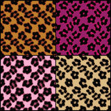 Leopard Print Tiles. Seamless leopard print tiles in a variety of colors royalty free illustration