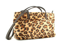 Leopard purse royalty free stock photos