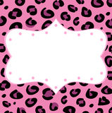 Leopard retro frame for your text Royalty Free Stock Photography
