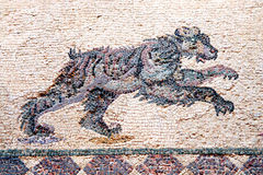 Leopard Roman mosaic Stock Photo