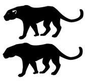 Leopard - Schattenbild Stockbilder