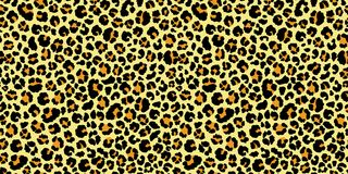 Leopard seamless pattern. Animal print. Vector background. Leopard seamless pattern. Animal print. Yellow and black texture. Vector background vector illustration
