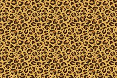 Leopard seamless print. Cheetah jaguar exotic animal skin pattern, luxury fashion wallpaper. Vector textile design stock illustration