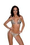 Leopard Sequined  Bikini Royalty Free Stock Photo