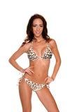 Leopard Sequined  Bikini Stock Images