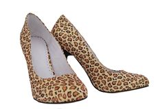 Leopard shoes Stock Photo
