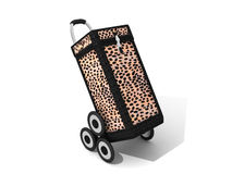 Leopard shopping caddy Royalty Free Stock Photography
