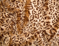 Leopard skin. Textured pattern on faux-fur blanket material stock images