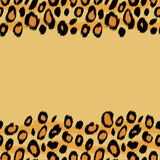 Leopard skin animal print border seamless pattern, vector Stock Photo