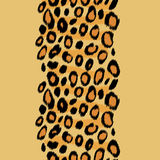 Leopard skin animal print vertical border seamless pattern, vector Stock Photos