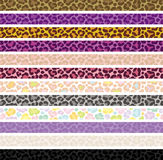 Leopard skin banners. Stock Photography