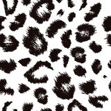 Leopard skin. Repeat pattern black spots on a white background Royalty Free Stock Photography
