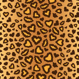 Leopard skin seamless background Royalty Free Stock Images