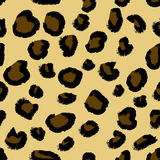 Leopard skin seamless pattern. Royalty Free Stock Photo