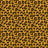 Leopard skin seamless pattern. African animals concept endless background, repeating texture. Vector illustration. Stock Images