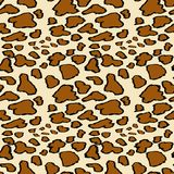 Leopard skin seamless pattern on yellow background. Animal print. royalty free illustration