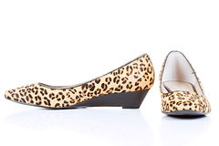 Leopard skin shoes Royalty Free Stock Images
