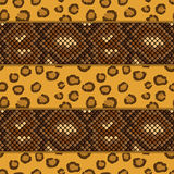 Leopard and snake skin seamless pattern Royalty Free Stock Photography
