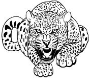 Leopard Sneaks Tattoo vector Stock Image