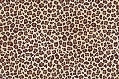 Leopard spots fur, horizontal texture. Vector. Illustration Stock Photography