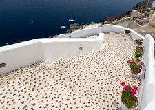 Leopard staircase to the sea Stock Photo