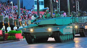 Leopard tank at NDP 2010 Royalty Free Stock Photo