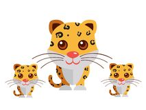 Leopard on a white background royalty free illustration
