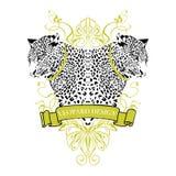 Leopardemblem Arkivfoto