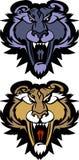 Leoparden-Puma-Maskottchen-vektorzeichen Stockbild