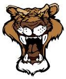 Leoparden-Puma-Maskottchen-Zeichen Stockbilder