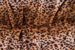 Leopardhautbeschaffenheit für Hintergrund Lizenzfreie Stockfotos