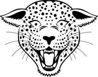 Leopardhuvudtatuering Arkivbild